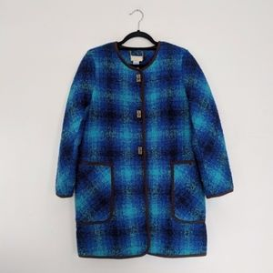 Soft Surroundings Wool-Blend Plaid Jacket / PS